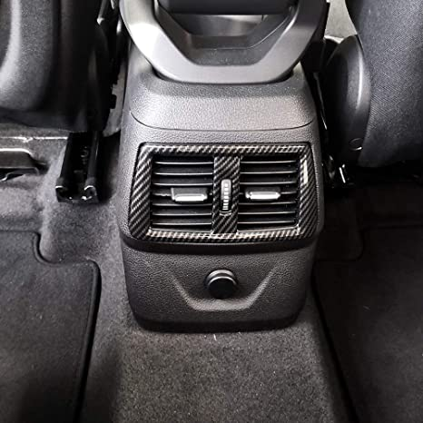 Carbon Fiber Car Rear Air Condition Outlet Vents Cover For Ford F150 2016-2018