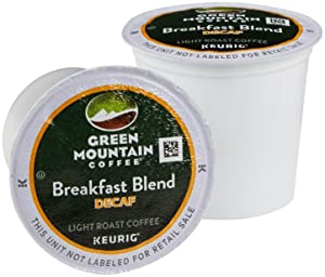 Green Mountain Coffee Breakfast Blend Decaf K-Cups - 100 ct