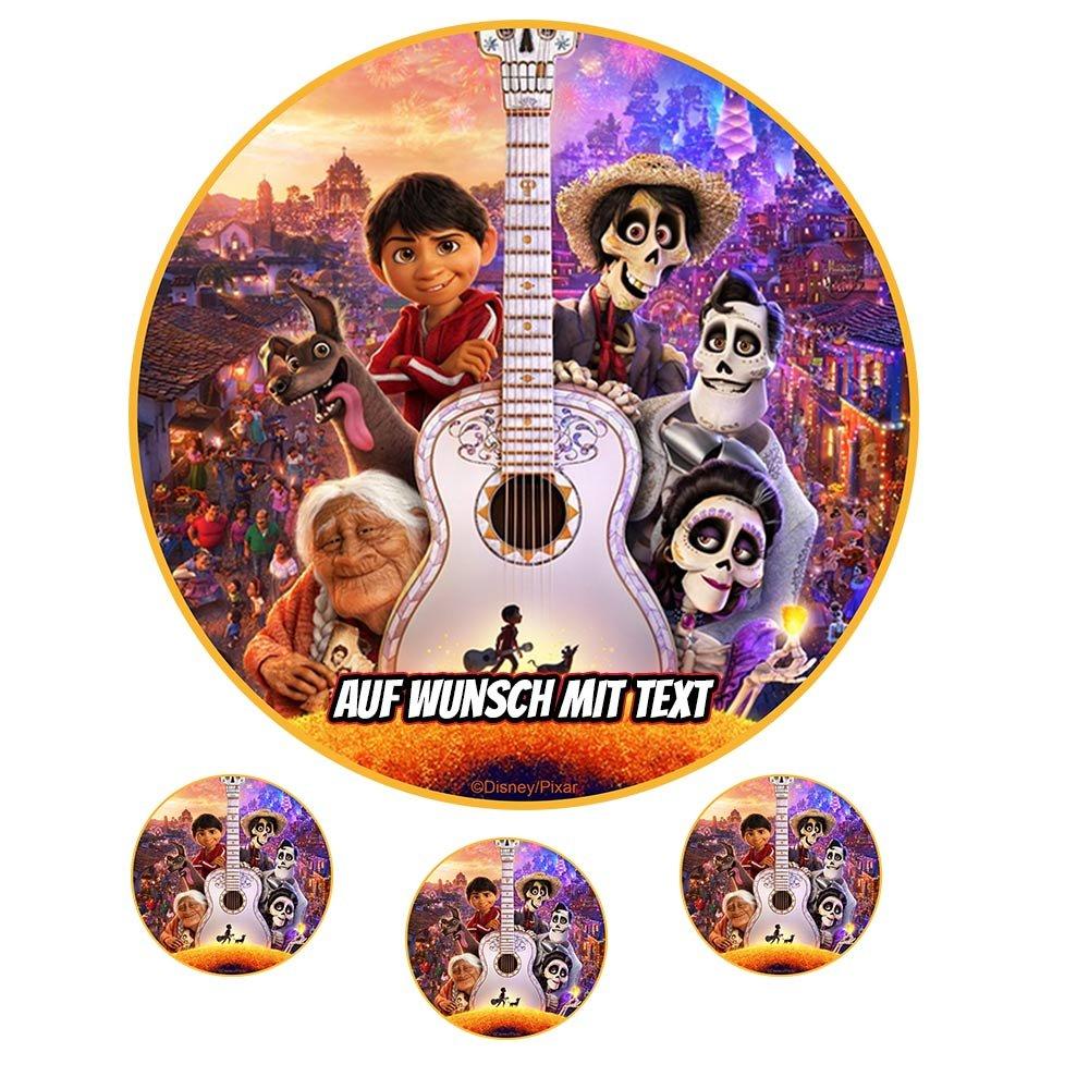 Tortenaufleger Geburtstag Tortenbild Zuckerbild Disney Coco 01