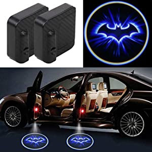 2Pcs For Batman Car Door Lights Logo Projector, Universal Wireless New upgraded version Car Door LED Logo Lighting Projector Welcome Lights Fit All Car Models(Batman blue)