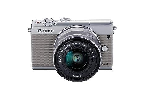 Canon EOS M100 GY M15-45 S - Cámara con Sensor APS-C de 24.2 MP ...