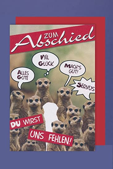 Abschied Grußkarte Humor Ich Bin Dann Mal Weg Pinguin 16x11cm