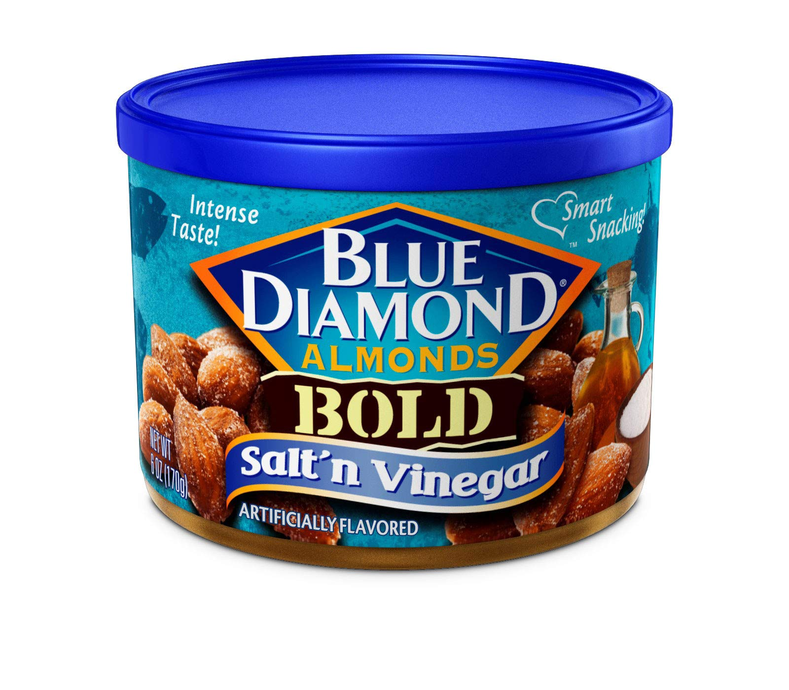 Blue Diamond Almonds, Bold Salt & Vinegar, 6 Ounce (Pack of 12)