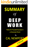 Summary of Deep Work By Cal Newport   Rules for Focused Success in a Distracted World