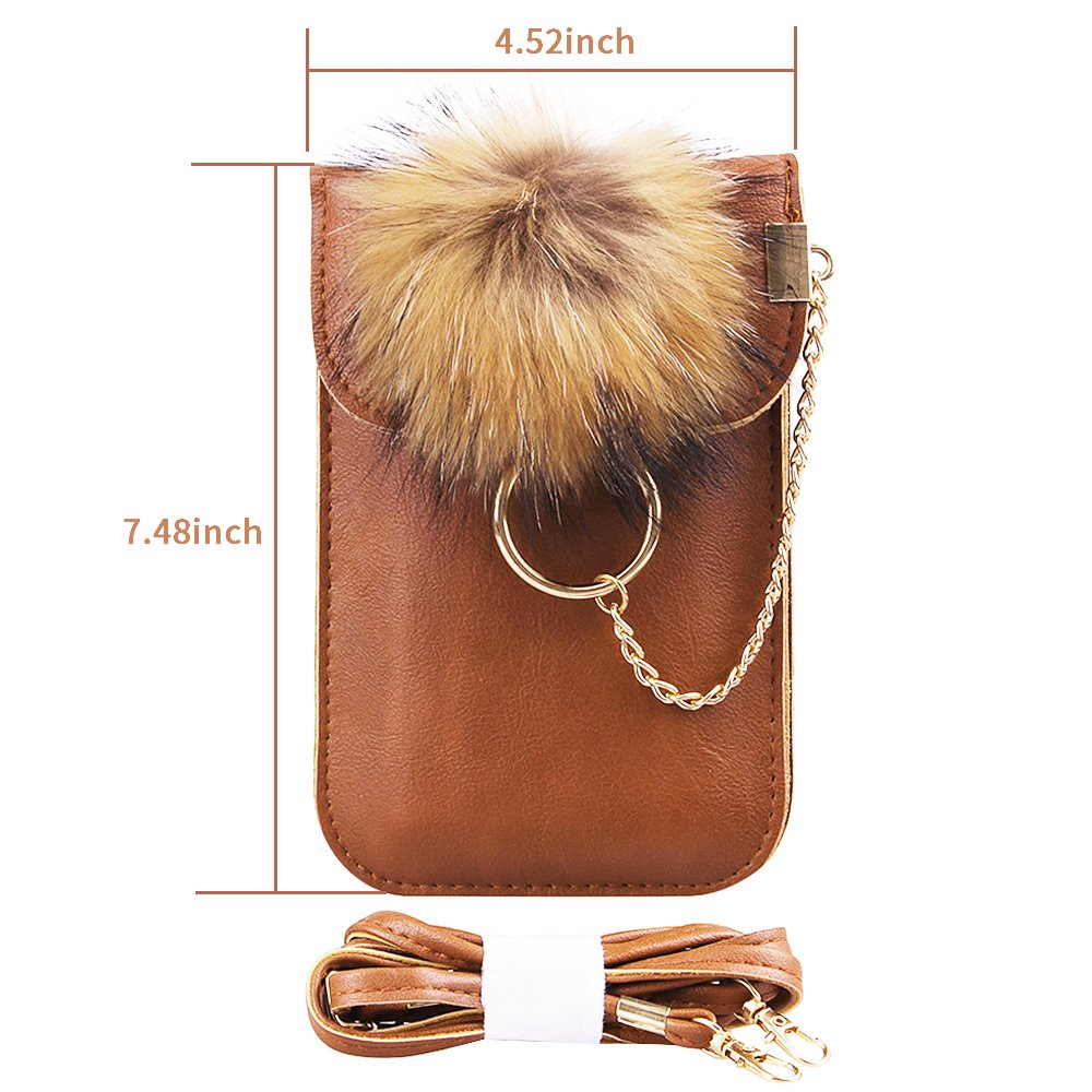 Cell phone purse with shoulder strap,small crossbody bags for women,phone wallet for girls (Brown)