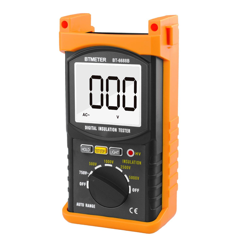 Digital Insulation Resistance Tester BTMETER BT-6688B, with Test Voltage 5000V, Insulation Resistance 200G ohms, High Voltage Indication