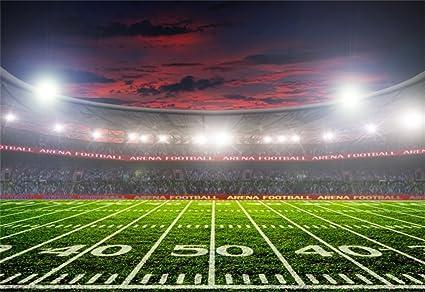 amazon com leowefowa 9x6ft vinyl football field backdrop american