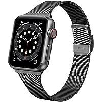 Seltureone bransoletka zastępcza kompatybilna z Apple Watch 38 mm, 40 mm, metalowa, stal nierdzewna, kompatybilna z…