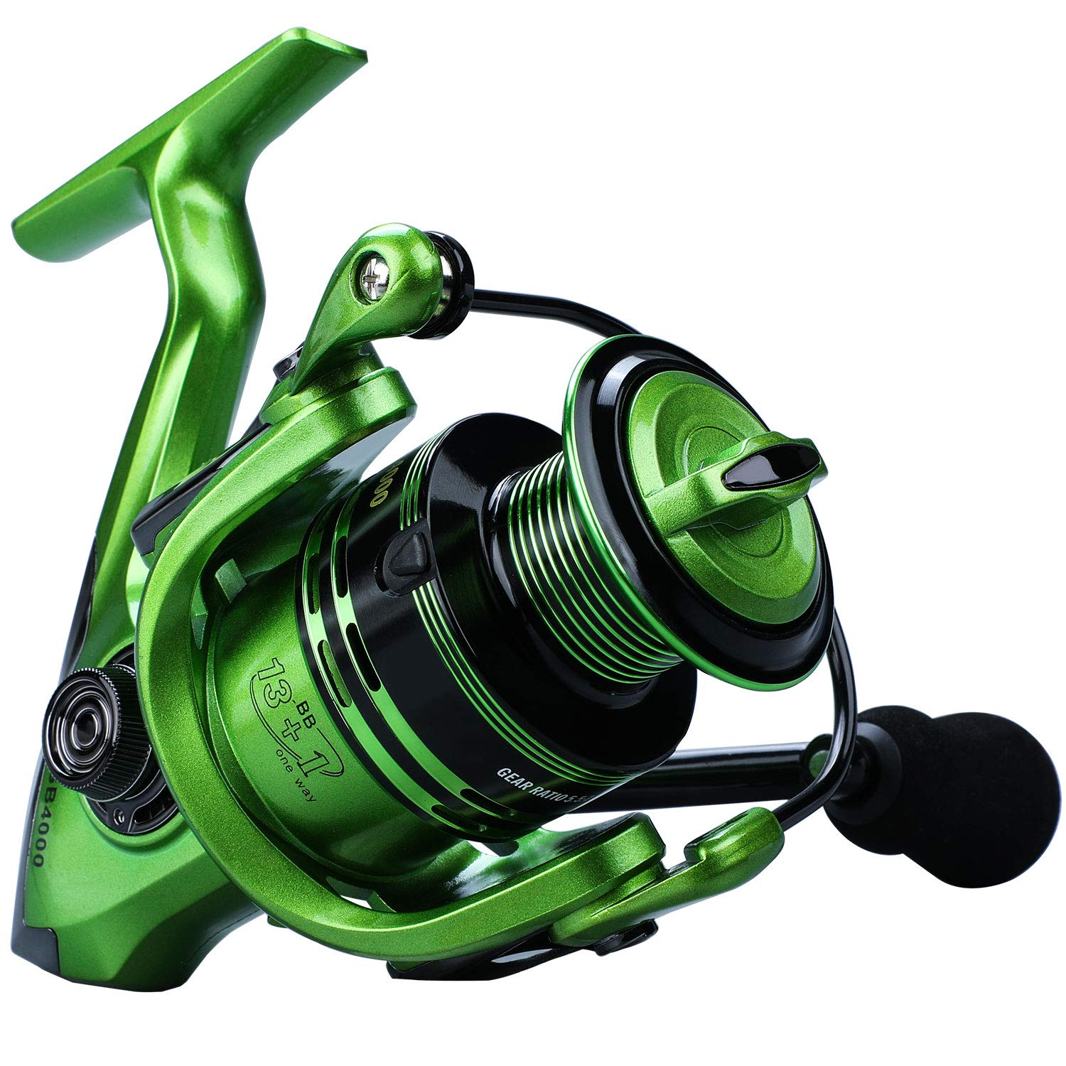 YONGZHI Bulnt Fishing Reels,13 1BB Light Weight and Ultra Smooth Powerful Spinning Reels for Saltwater and Freshwater Fishing.