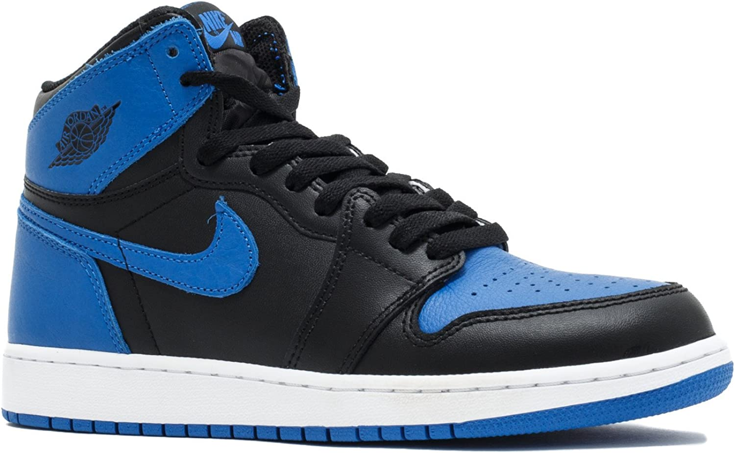 Nike Air Jordan 1 Retro GS OG BG Black Royal Blue Women Boys Girls 575441 007