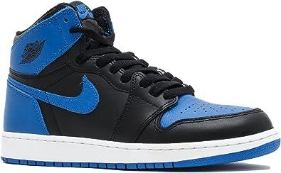 Amazon Com Nike Kids Air Jordan 1 Retro High Og Bg Black White