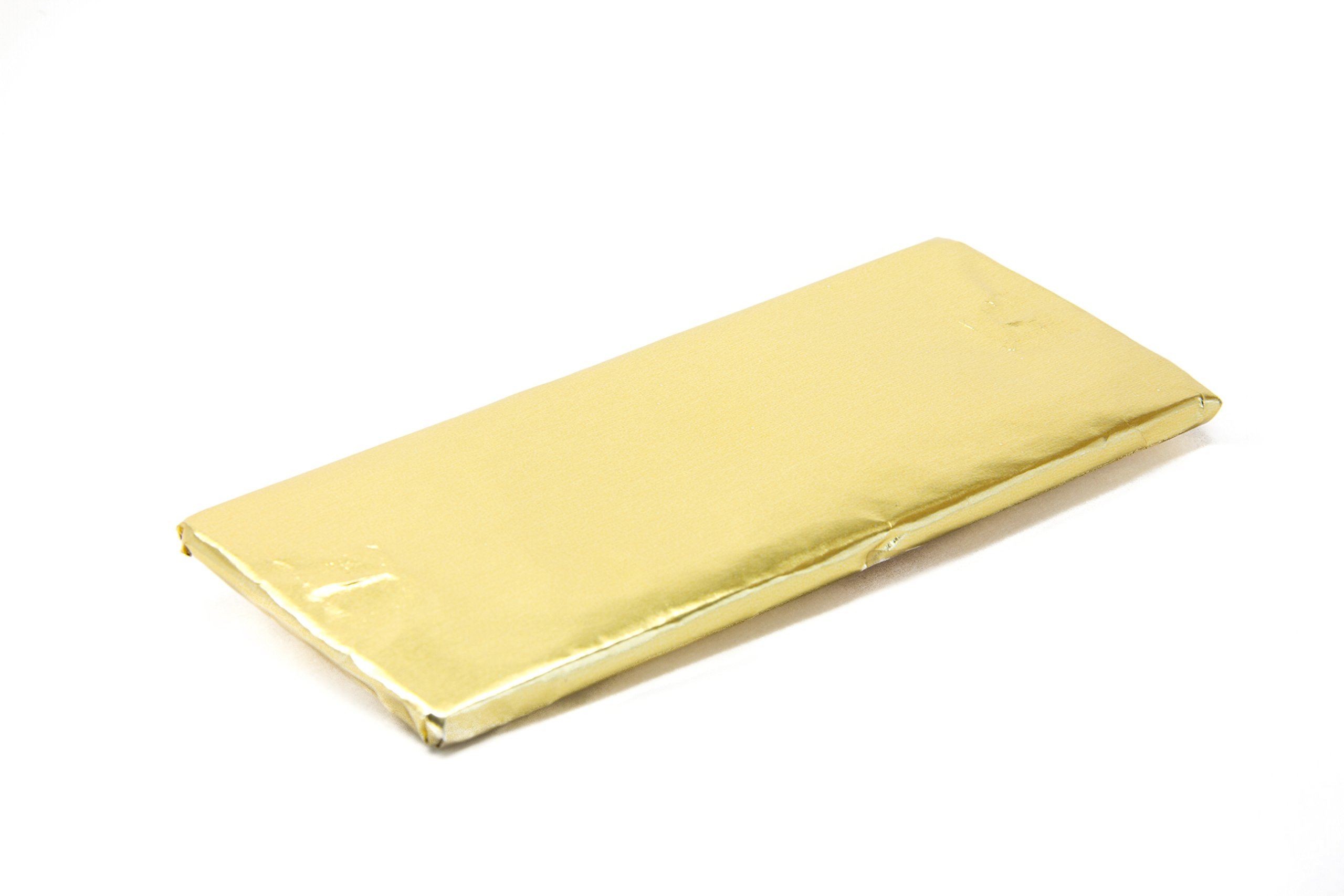 Foil Wrapper Gold 6'' X 7.5'' For Hershey Bar Over Wrap pack of 100