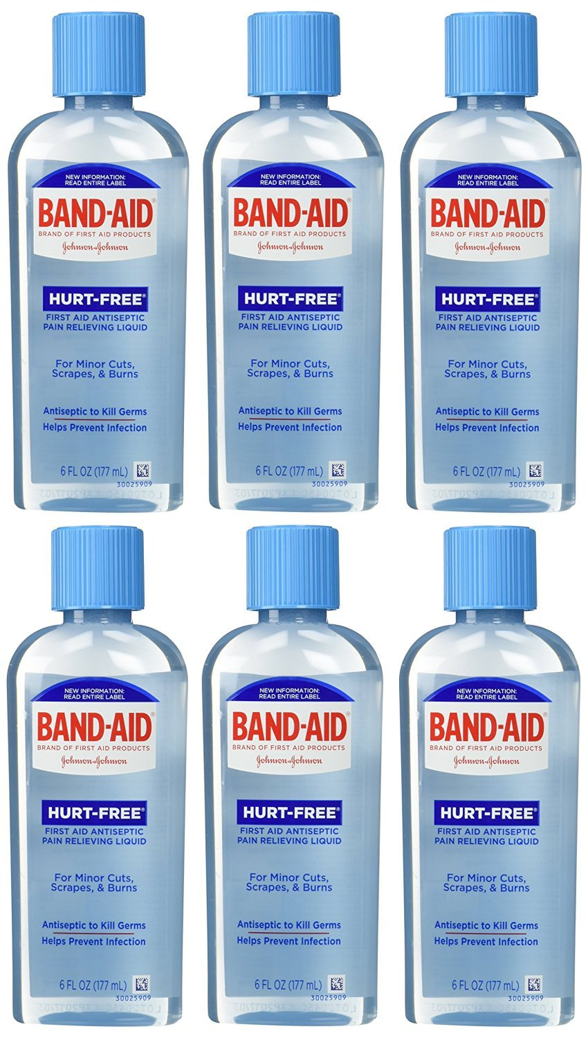 Band-Aid First Aid Hurt-Free Antiseptic Wash, 6 Count by Band-Aid