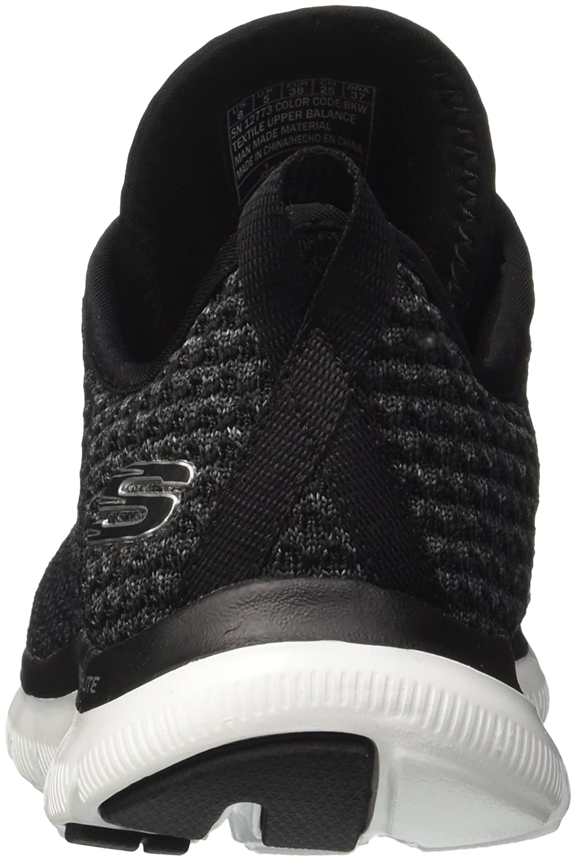 Skechers Sport Women's Flex Appeal 2.0 Bold Move Fashion Sneaker B01N8QR22X 8.5 B(M) US|Black White
