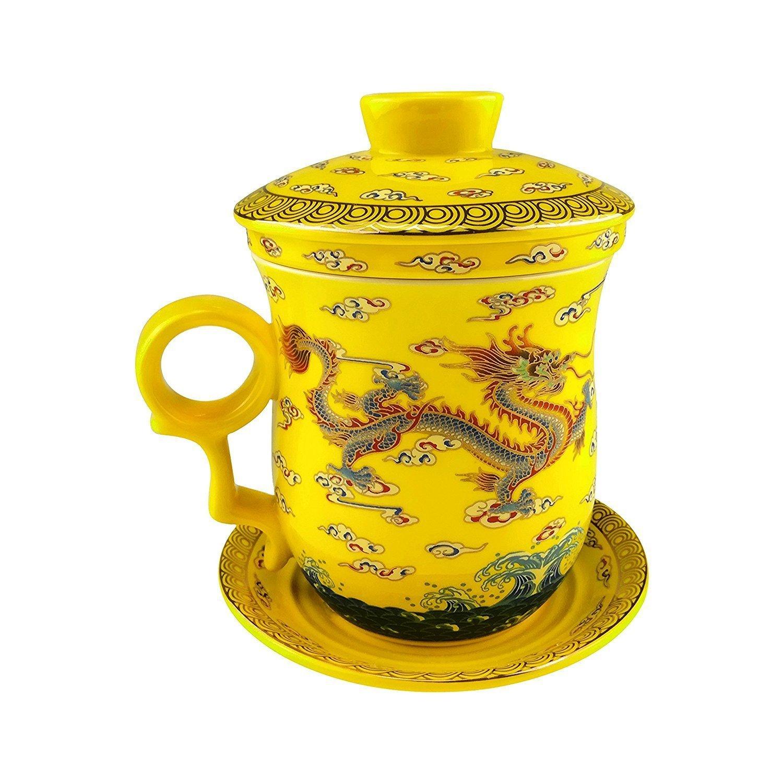 moyishi chinese teaware black porcelain bone tea cups tea mug with lid black. Black Bedroom Furniture Sets. Home Design Ideas
