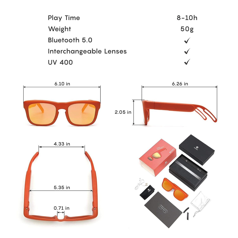 Amazon.com: Gafas de sol con Bluetooth para hombre M ...