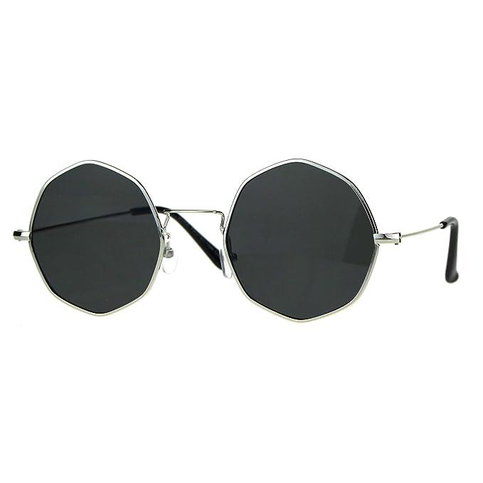 Amazon.com: Redondo, forma octogonal anteojos de sol Marco ...