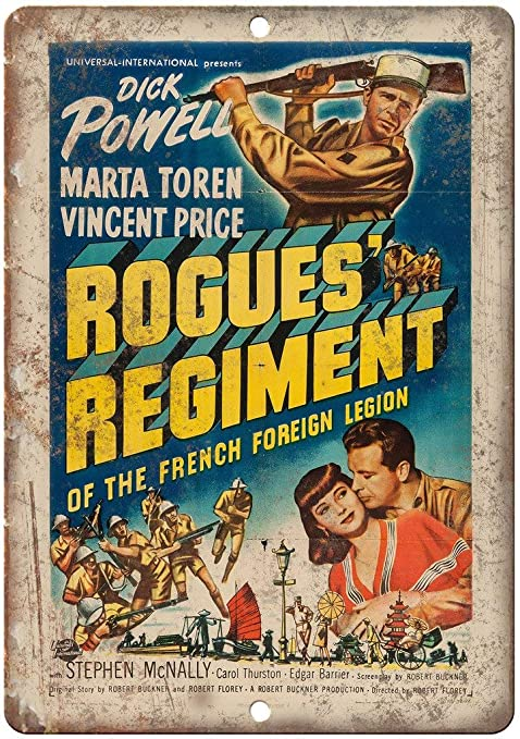 Shunry Dick Powell Rogues Regiment Placa Cartel Vintage ...
