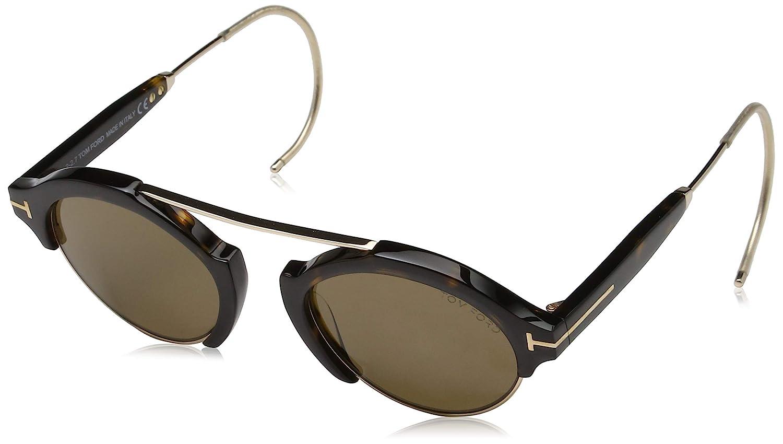 49.0 Gold Tom Ford Unisex Adults Sonnenbrille FT0631 52J 49 Sunglasses