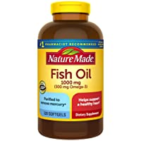 Nature Made Fish Oil 1000 mg Softgels, 320 Count for Heart Health† (Packaging May...