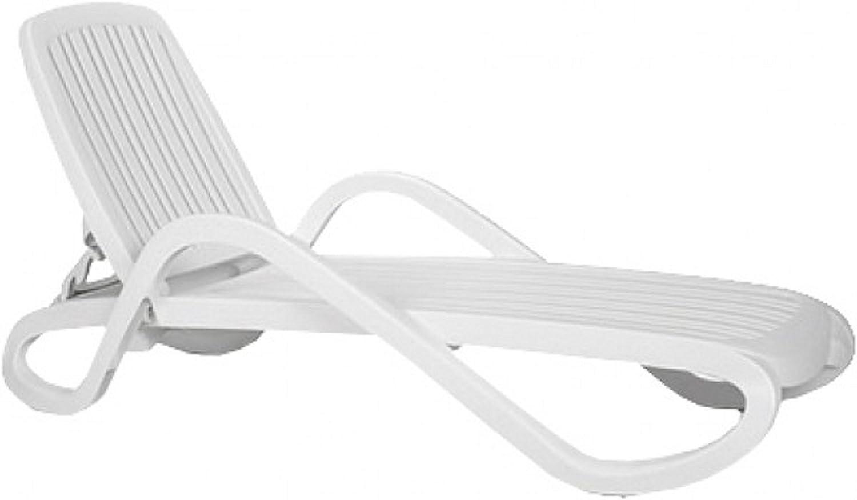 Stapelliege, weiß, 69 x 193 x 93 cm