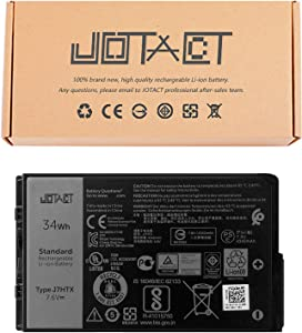JOTACT J7HTX(7.6V 34Wh/4342mAh 4-Cell) Laptop Battery Compatible with Dell Latitude 7202 7212 7220 Rugged Extreme Series Notebook 02JT7D 7XNTR FH8RW