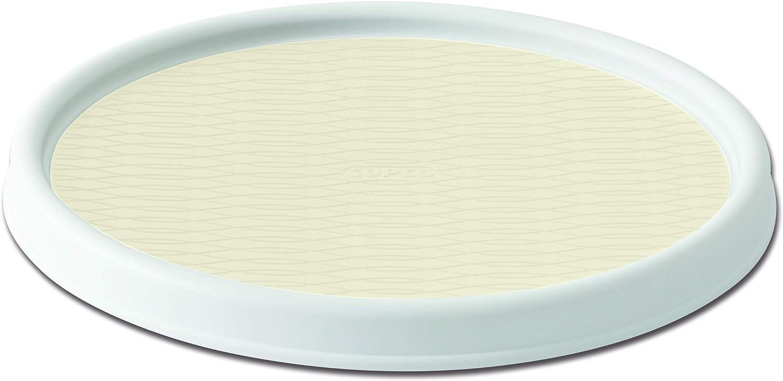 Copco Basics Non-Skid Turntable, 12 inch, White and Cream