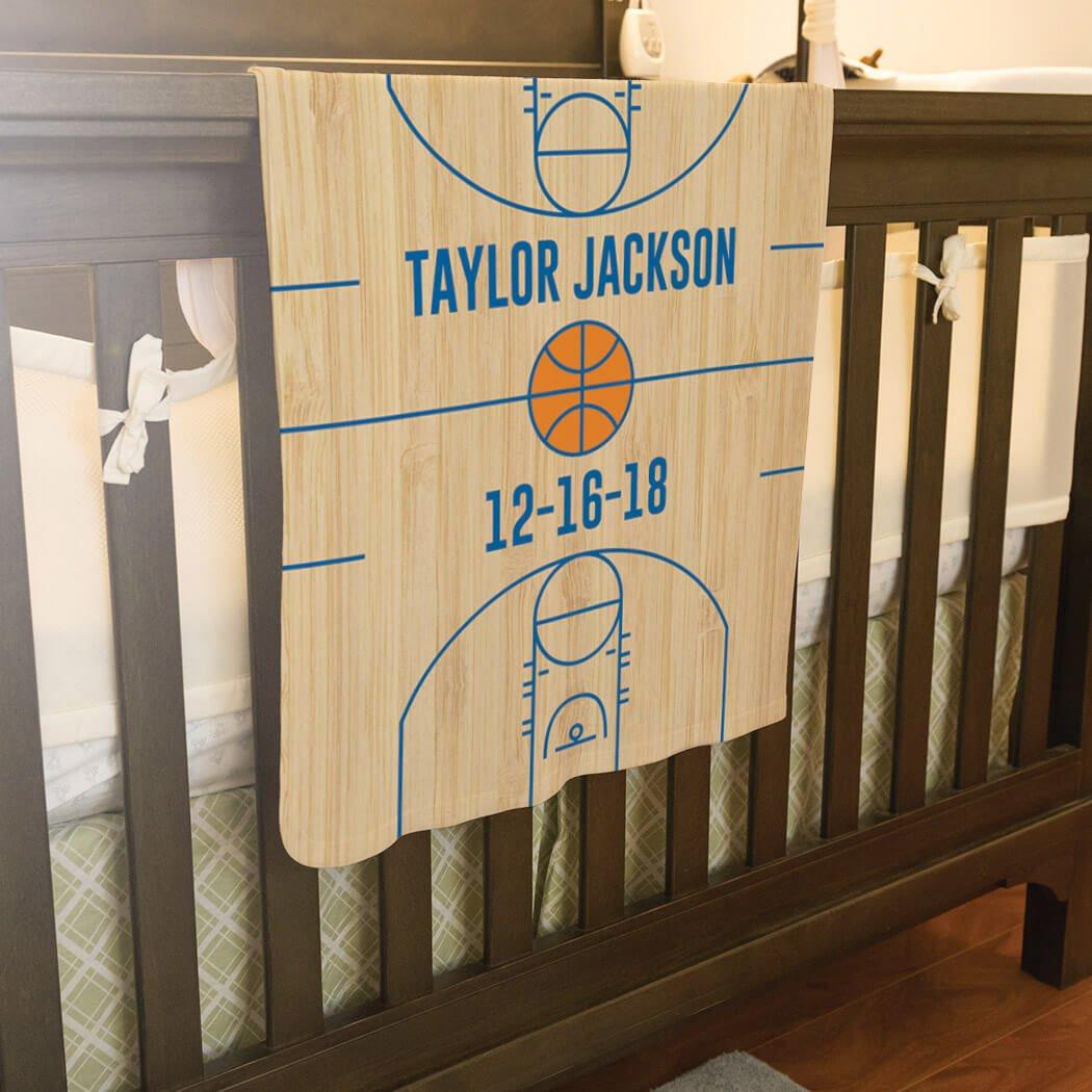 Basketball Baby & Infant Blanket   Basketball Court Wood by ChalkTalkSPORTS (Image #4)