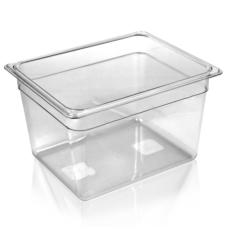 WyzerPro Sous Vide Container for Cooking – Fits Immersion Circulators Anova, Joule, Sansaire, Polyscience – Heat & Shatter Resist, Dishwasher-safe – Tank Holds 12 Quarts for Sous Vide Water Bath
