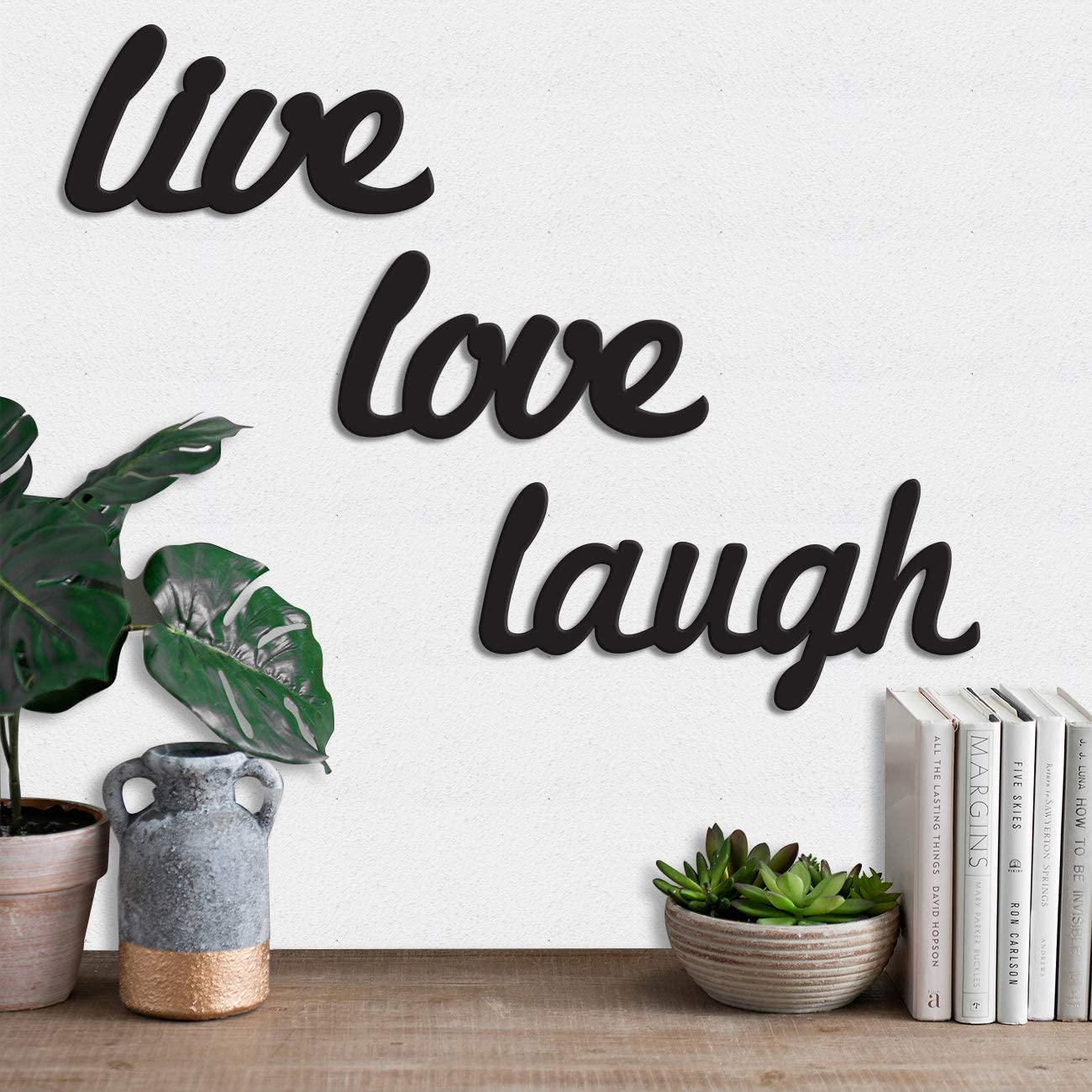 Art Street MDF Wood Sign Live Love Laugh Wall Plaque, Wood Sign Wall Decoratives
