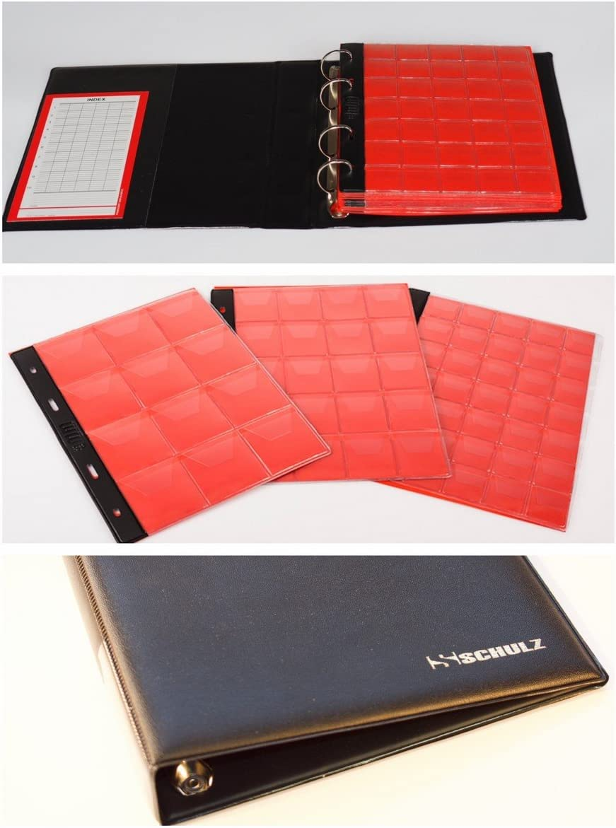 1 Page 30 Pockets Clear Classic Coin Collection Storage Album Page Folder Holder