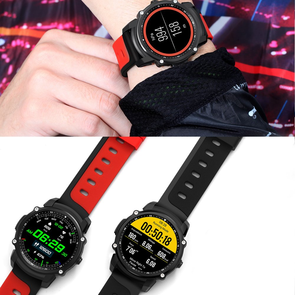 Smart Watch FS08 Reloj GPS Multi-Sport de Modo de Ritmo Cardíaco ...