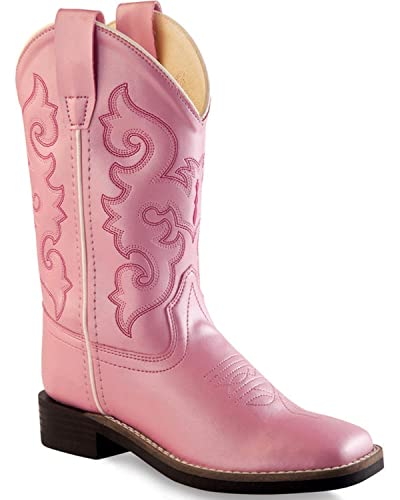 670afa23a8d Old West Girls' Western Boot Square Toe - Vb9120