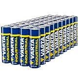 Varta Confezione Industrial 40 Batterie Alcaline, Tipo AA, Stilo LR6 Mignon