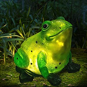 Solar Frog Light Garden Outdoor Decoration for Lawn Patio Backyard