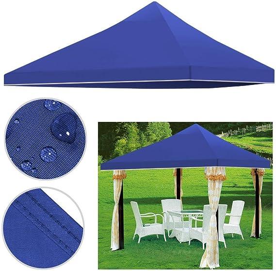 Yahee Techo de repuesto para cenador, 3 x 3 m, para carpa de jardín, de PVC y poliéster, impermeable, resistente, azul: Amazon.es: Jardín