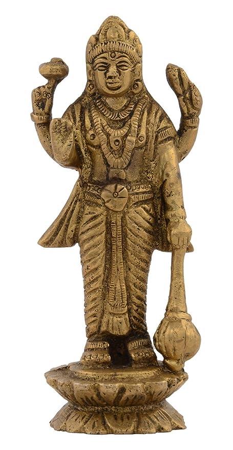 Amazon Com Kapasi Handicrafts Emporium Vzk116 Brass Lord Vishnu