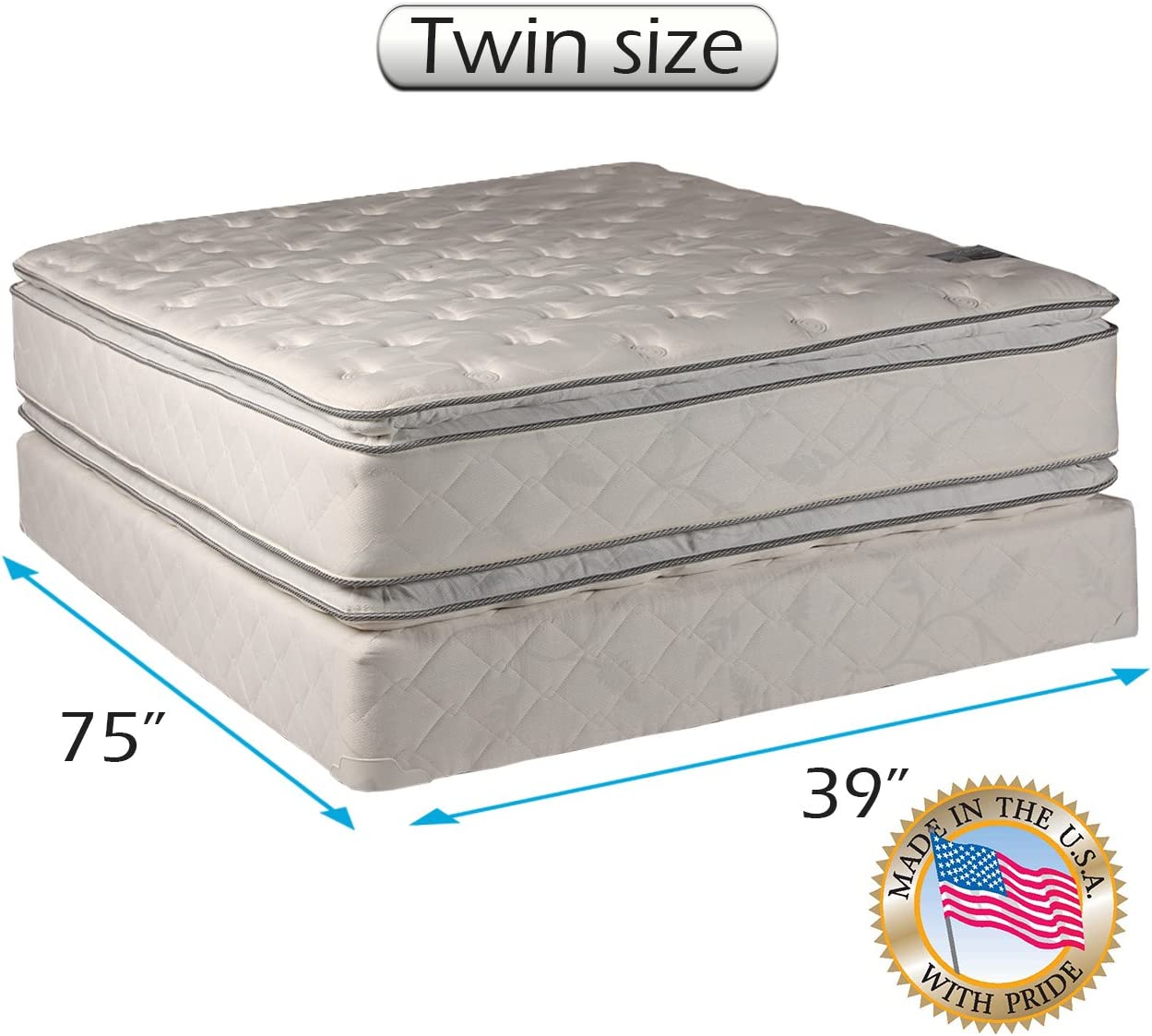 Amazon Com Princess Dream Plush Pillow Top Twin Size Mattress And