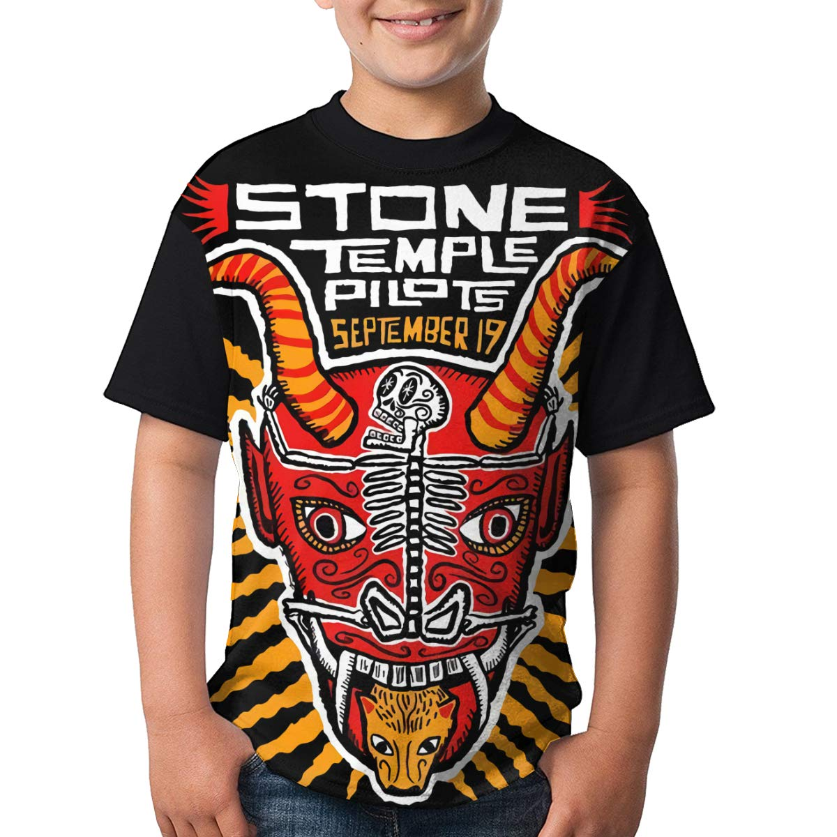 Stone Temple Pilots T Shirt Youth Shirt Boys Teenager Round Neck Short Sleeve Tee
