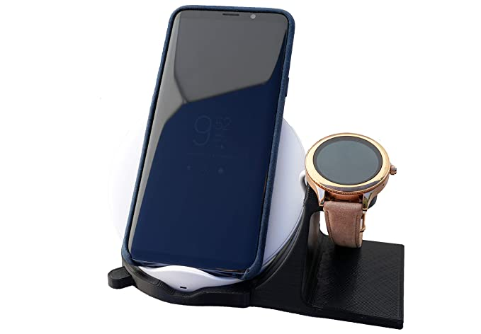 Artifex Design Stand Configured for Michael Kors Access SmartWatch for Grayson and Sofie smartwatch Charging Dock Stand (MK Wireless Combo)
