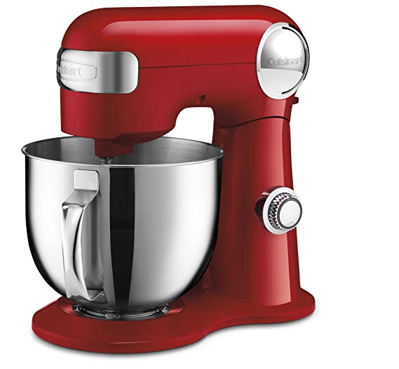Cuisinart SM-50R Stand Mixer, Red Small Kitchen Appliances at amazon