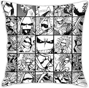 Mikalaaro My Hero Academia Collage Anime Might Skinny Version Pillowcase Cushion Pillow Cover Sofa Home Decoration 18x18inch