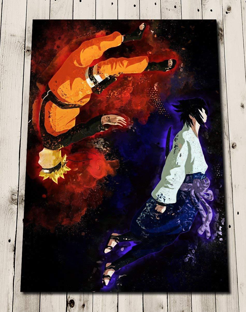 Amazon.com: NARUTO SASUKE Poster Gift - Art Painting Gift - Wall Decor -  Shippuden - Naruto Uzumaki - Sasuke Uchiha - Yin and Yang: Handmade