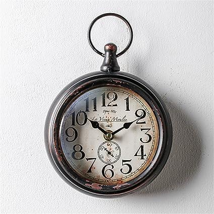 blyn de metal creativa Americanas Hierro Digital Reloj de pared (sin fuente de alimentación)