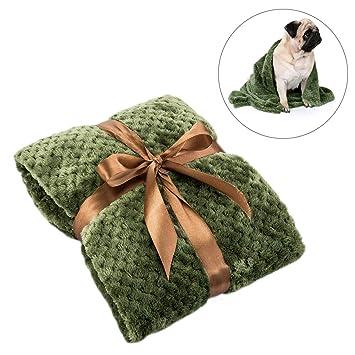 FONLAM Manta para Perro Gato Cachorro Colchón Manta para Cama Perro Mascota Suave Invierno Grueso Calentito (100 * 120, Verde): Amazon.es: Productos para ...
