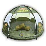 HMSPORT Inflatable Family Tent 4 Person large space, Waterproof for Outdoor Camping Car Travel with Zippered Door and Inflatable Bladder, Water Floating and Anti Snake.
