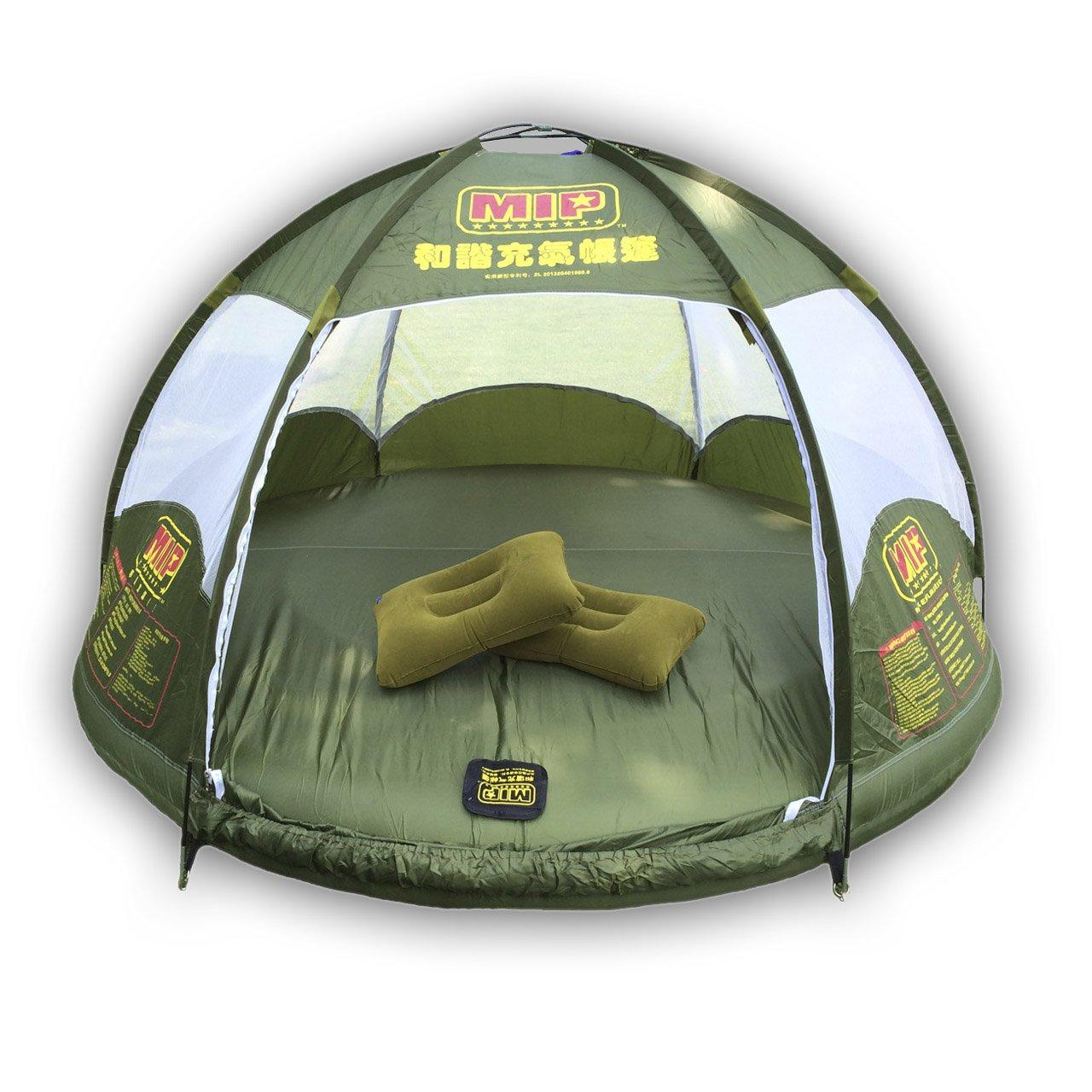 Hmsport, aufblasbare Familie Zelt 4 Personen großen Raum, wasserdicht für Outdoor Camping Auto Reisen mit Reißverschluss Tür und aufblasbare Blase, Wasser schwimmende und Anti-Schlange.