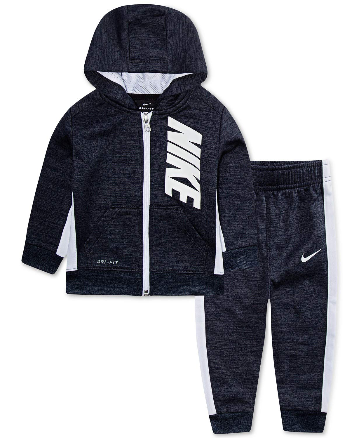 NIKE Baby Boys' Therma Dri-Fit 2-Piece Tracksuit Pant Set Outfit - Obsidian