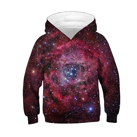 b05ae04f1a9 Amazon.com  ❤ Mealeaf ❤ Kids Boys Girls Hoodies Sweatshirt 3D ...