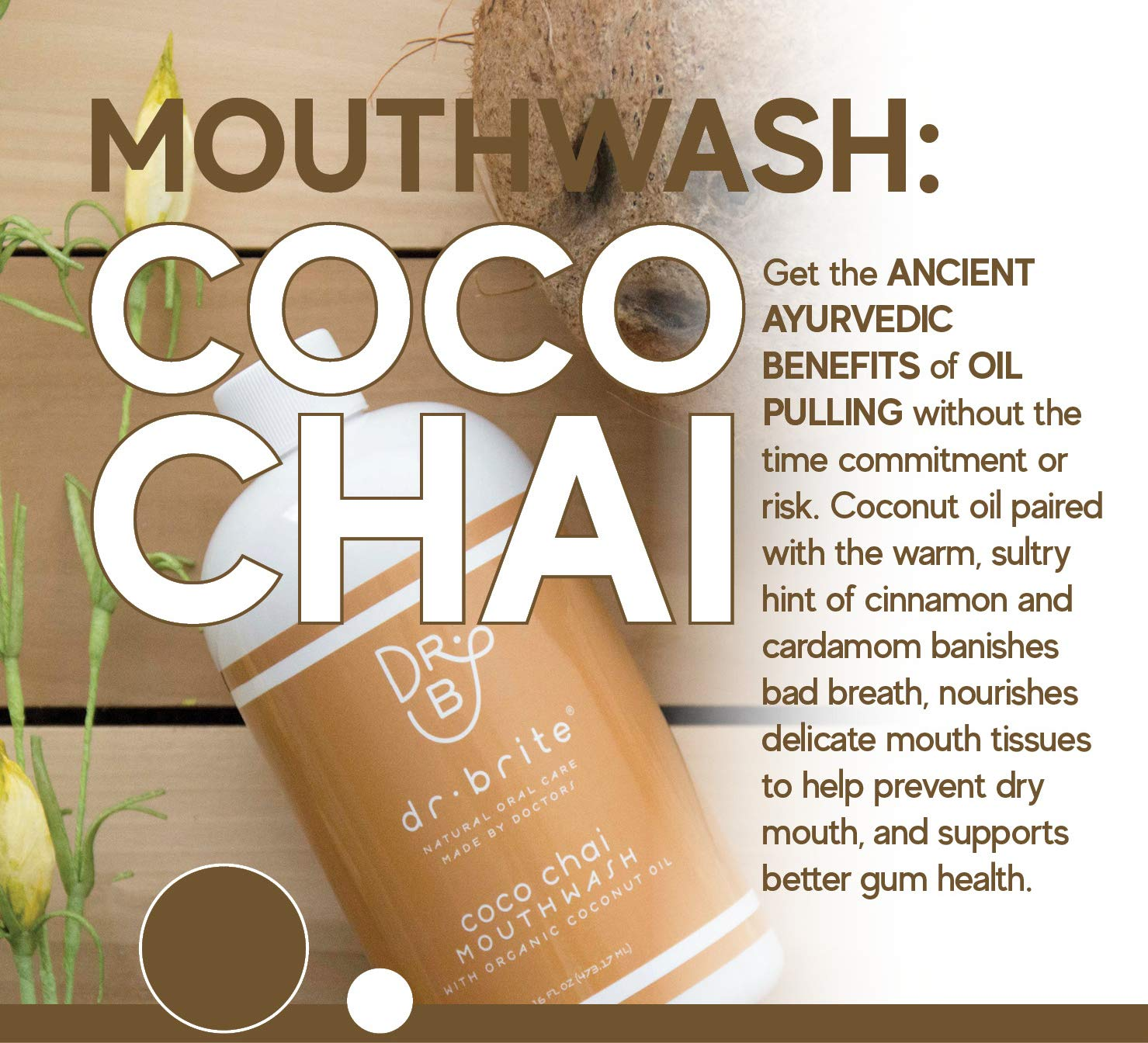 Image result for Dr. Brite Coco Chai Healthy Gums Mouthwash